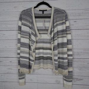 NWT White House Black Market Cardigan sweater grey